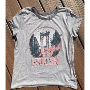 Abercrombie & Fitch Gray Brooklyn NY Graphic Tee